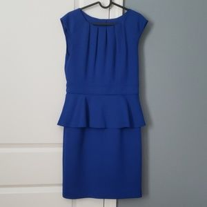 Peplum blue dress